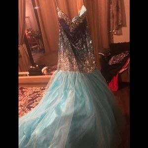 Beautiful sequined mermaid style gown